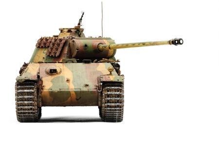 batallón: Tanque alemán Panther en la Segunda Guerra Mundial. Aislado sobre fondo blanco