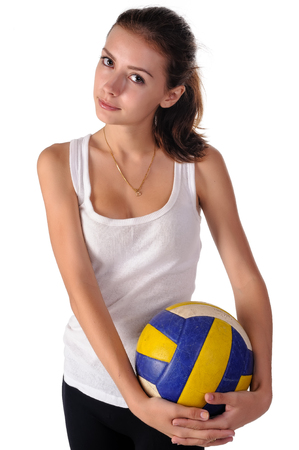 emulate: young beauty volleyball player