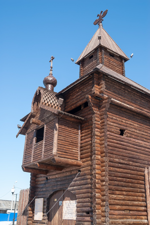 Yalutorovsk, Russia - April 3, 2010: Yalutorovsky jail. One of first city settlements in territory of Siberia. It is recreated in an original form to 350 anniversary of Yalutorovsk town
