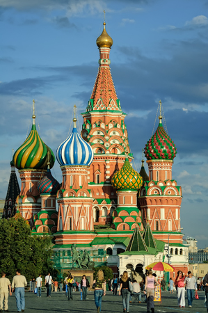 Moscow, Russia - July 4, 2005: St Basils Cathedral on Red Square