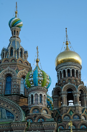 Saint-Petersburg, Russia - May 14, 2006: Church of the Savior on spilled blood Stock Photo