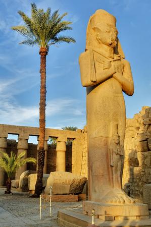 Statue of King Ramses II in Karnak temple. Luxor, Egypt. Stock Photo