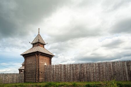 Yalutorovsk, Russia - September 14, 2013: Yalutorovsky jail. It is recreated in original form to 350 anniversary of town. Partially burned down in January, 2014