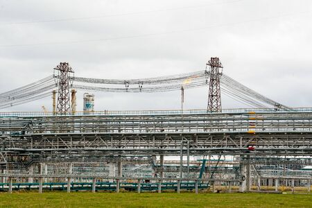 Tobolsk, Russia - May 29. 2018: Polymer plant. Gas-chemical complex on polypropylene production