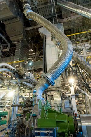 Tobolsk, Russia - July 15. 2016: Sibur company. Tobolsk Polymer plant. Extruder machine workshop Editorial