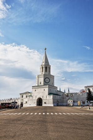 spassky: spassky tower of kazan kemlin, tatarstan,  russia