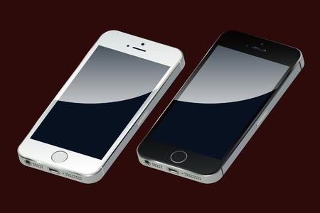 Smartphones Иллюстрация