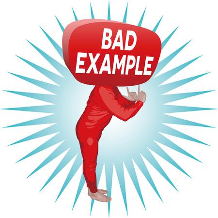 Bad Example Man Ilustrace