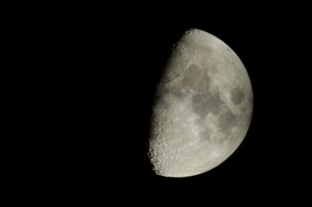 reflector: moon view with a 500mm reflector telescope