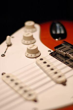 pickups: guitars body focused on volume control