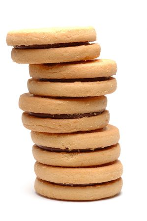 sandwitch: Stack of chocolate biscuits
