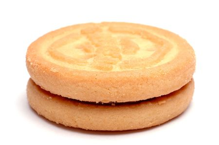 sandwitch: Closeup of a biscuit isolated