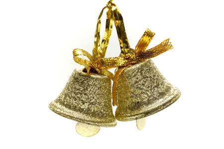Two christmas bells isolated photo