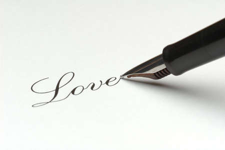 Writing love photo