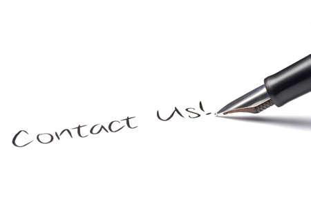 contact info: La scrittura della penna di fontana se li mette in contatto con!