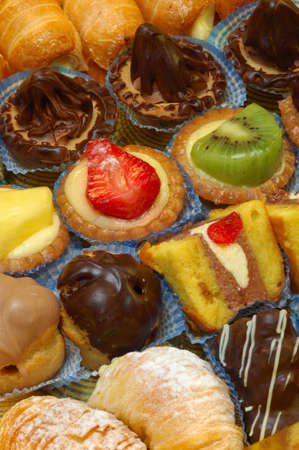 sorted: Sorted and fresh pastries of different tastes