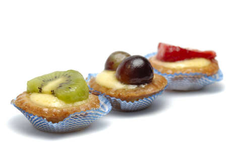 Fruit pastries isolated over a white background photo