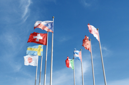 different countries: Flags of different countries Stock Photo