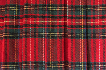 scottish culture: Red Scottish Tartan Background Close-up