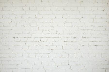 Textura de fondo de pared de ladrillo blanco antiguo de cerca Foto de archivo