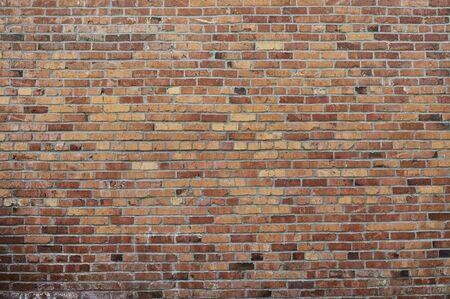 Alte rote Backsteinmauer Hintergrundtextur hautnah