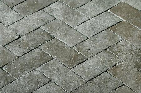 Antiguo pavimento de piedra gris textura de fondo de cerca Foto de archivo