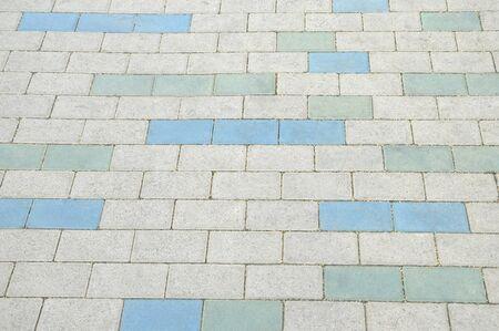 Mosaic pavement texture background close up