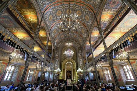 Bucharest, Romania - September 01, 2019: The Coral Temple from Bucharest, raised between 1864-1866, the most impressive and beloved synagogue from Romania. This image is for editorial use only.