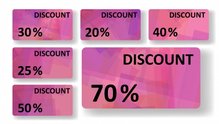 Abstract discount cards Stock Vector - 18154558