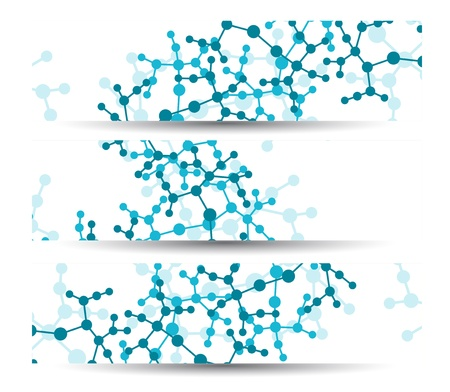 molecular structure: Dna banner for your design  Illustration