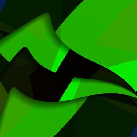 Abstract dark shape illustration