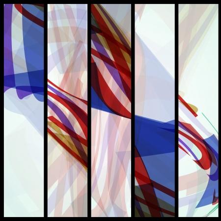 Abstract banner for your design, colorful digital Illustration. Illustration