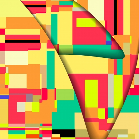 Abstract square illustration
