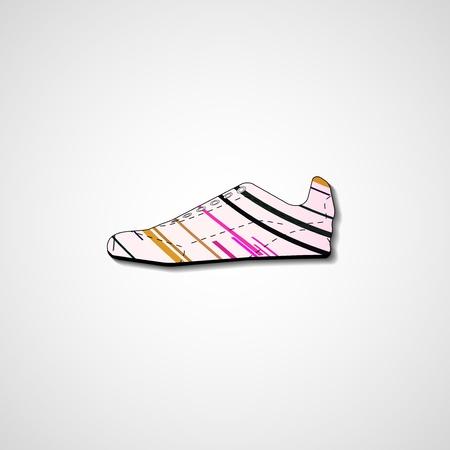 Abstract illustration on sneakers, template editable. Illustration