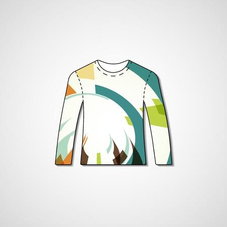 Abstract illustration on sweater, template editable. Illustration