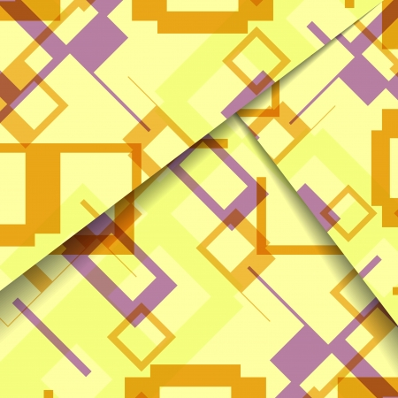 Abstract geometric shape illustration, colorful digital composition.
