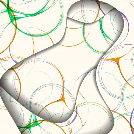 Abstract illustration, colorful swirl composition.