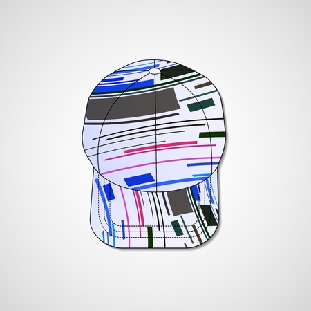 Abstract illustration on peaked cap Vector