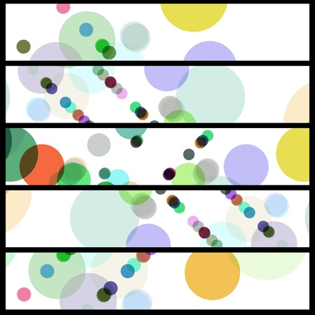 Abstract circles illustration, colorful digital composition. Illustration