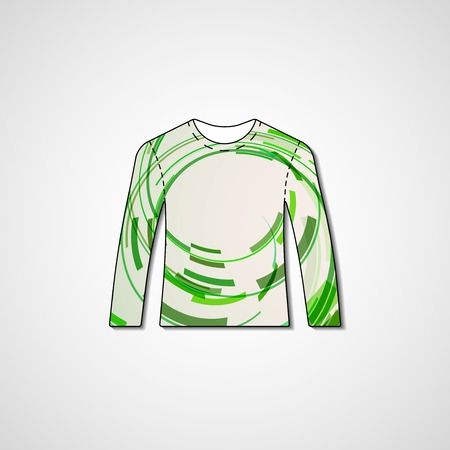 Abstract illustration on sweater, template editable. Vector