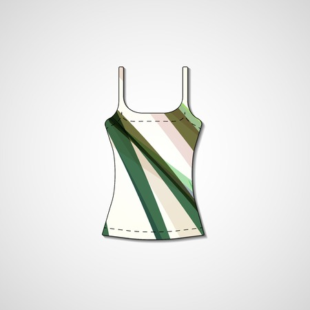 Abstract illustration on singlet, template editable. Stock Vector - 22421512