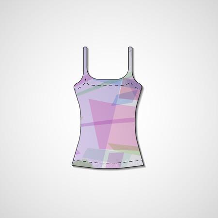 Abstract illustration on singlet, template editable. Stock Vector - 22421518