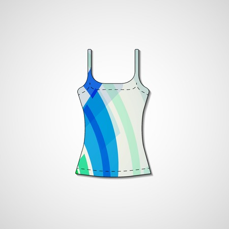 Abstract illustration on singlet, template editable. Vector