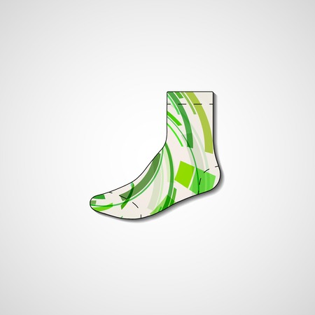 Abstract illustration on sock, template editable. Vector
