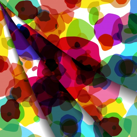 kinetic: Abstract illustration, colorful unusual composition. Illustration