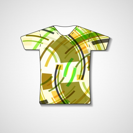 Abstract illustration on t-shirt, template editable. Stock Vector - 23461892