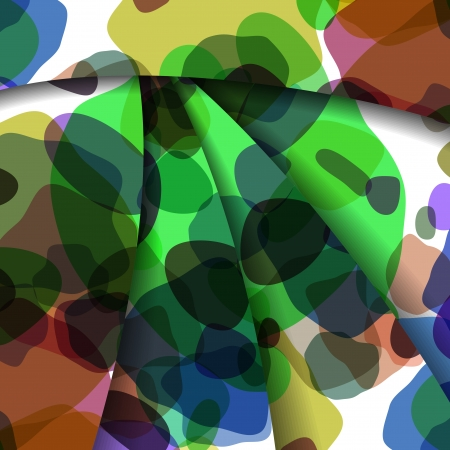 Abstract illustration, colorful unusual composition. Illustration