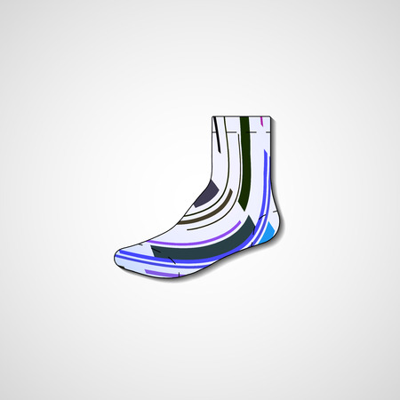 Abstract illustration on sock  Vector
