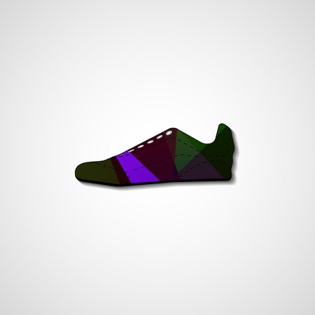 Abstract illustration on sneakers Vector
