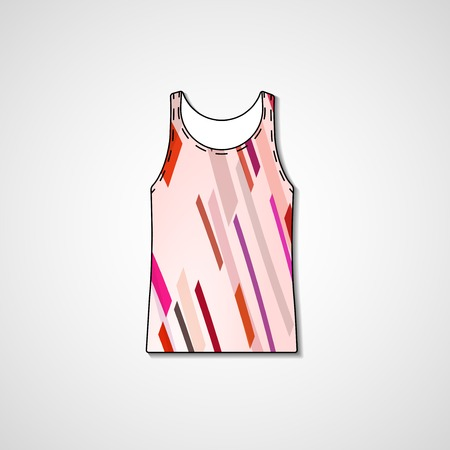 vest in isolated: Abstract illustration on singlet, template editable.